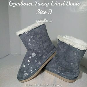 🎈4/$20🎈 Gymboree Fuzzy Lined Gray Boots Sz 9